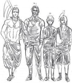 Hidan, Kakuzu, Sasori, and Deidara