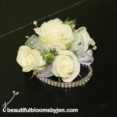 Gallery For > Wrist Corsage White Roses