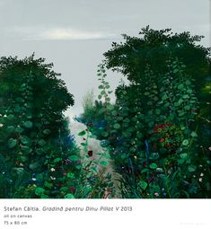 Garden for Dinu Pillat V Painting Prints, Paintings, Modern Art, Garden, Plants, Magic, Author, Garten, Paint