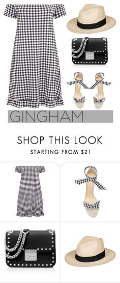 """""""Gingham dress"""" by pamela-802 ❤ liked on Polyvore featuring Alexandre Birman, MICHAEL Michael Kors, Roxy and ginghamdress"""