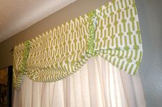 no sew valance | The 29 by 30 - Project 4: Repurposed Curtains and a No Sew Valance
