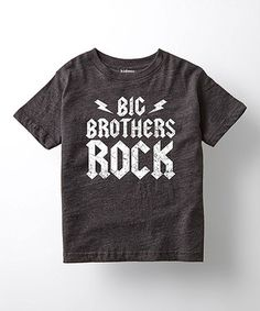 Look at this #zulilyfind! Heather Charcoal 'Big Brothers Rock' Tee - Toddler & Boys #zulilyfinds