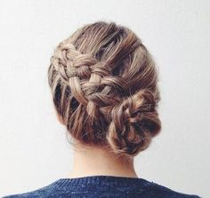 5-Strand Braid and Bun - 101 Braid Ideas That Will Save Your Bad Hair Day (Photos)
