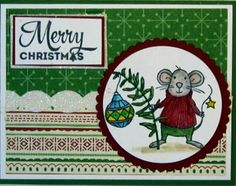 Crafty Maria's Stamping World: Another Merry Mouse Christmas - Just Add Ink #325