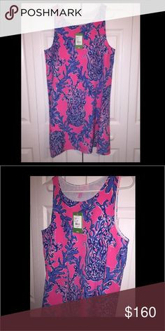 NWT Lilly Pulitzer Caught In The Coral Shift Large Caught In The Coral Jackie Shift. The Colors On This Are Stunning 💕 Perfect For Spring. Reasonable Offers Considered Through Offer Button. Lilly Pulitzer Dresses