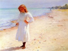 The Athenaeum - Collecting Seashells (Charles Courtney Curran - No dates listed)