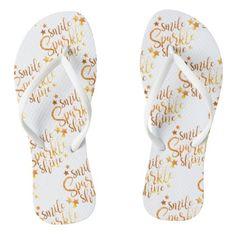 160e0148670 Smile Sparkle Shine Thongs Jandals Flip Flops - bridesmaid gifts bridal  bride wedding marriage