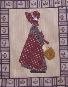 Sunbonnet site is in French and apparently no pattern, but I like the idea of Sunbonnet Sue grown up