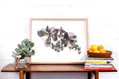 """Floracascade""  70mm x 550mm, framed in Tasmanian Oak Eco-dyed silk, organza, cotton, bamboo batting, thread, sequins, beads."