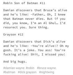 Robin Son of Batman 11. Damian Wayne. Robin. Bruce Wayne. Batman. Grayson 12. Dick Grayson. Agent 37 mp