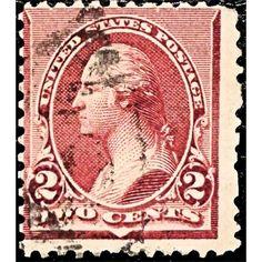 United States, George Washington, Two Cents, postage, 1890 used