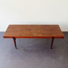 Located using retrostart.com > Side Leaf Drawer Coffee Table by Unknown Designer for Unknown Manufacturer