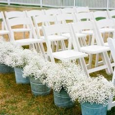 Ideas and inspiration for natural and floral wedding aisle decor Image credit: The Knot