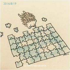 Puzzle almost completed by the tiny hedgehog