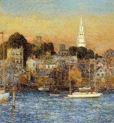 October, Sundown, Newport by Childe Hassam