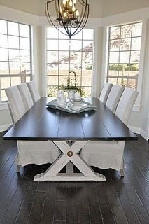 11 Best Two Toned Tables Images Table Dining Room