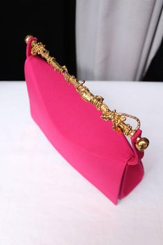 260bb119052 1990s Christian Lacroix Haute Couture Pink Evening Bag