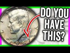 How much is a 1967 half dollar worth? We look at Kennedy half dollar error coins worth money. This is the 1967 half dollar value and coin prices. Valuable Pennies, Rare Pennies, Valuable Coins, Old Coins Worth Money, Old Money, Old Coins Value, Penny Values, Coin Prices, Kennedy Half Dollar