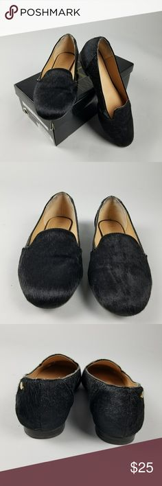 IMAN SZ 7.5W BLACK GLITTER SOFT HAIRCALF  LOAFERS IMAN SZ 7.5W BLACK GLITTER SOFT HAIRCALF  LOAFERS FLATS-  Nice slip on shoes. Light wear. IMAN Shoes Flats & Loafers