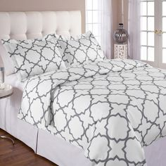 Found it at AllModern - Quatrefoil Duvet Cover Set http://www.allmodern.com/deals-and-design-ideas/p/The-Hollywood-Suite-Quatrefoil-Duvet-Cover-Set~ECHL1048~E17977.html?refid=SBP.rBAZEVTmE_NCLw4LM4bKAn8yIiQk8EShndDFgpfUwj0