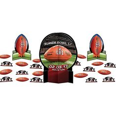 NFL Super Bowl 51 Party Table Decorating Kit * Want additional info? Click on the image. #FootballPassion