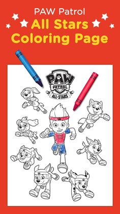 When they're not saving the day, the pups are out having a ball. Print this sporty PAW Patrol coloring sheet for your preschooler to get ready for athletic All Star adventures!