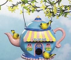 18 best Teapot Birdhouses images on Pinterest | Birdhouses, Teapot Tea Pot Bird House Designs on porcelain bird houses, spoon bird houses, tree bird houses, coffee bird houses, book bird houses, kettle bird houses, watering can bird houses, basket bird houses, flower bird houses, christmas bird houses, clock bird houses, tea cup bird feeder poem, really easy bird houses, easy to make bird houses, silver bird houses, cream bird houses, teacup bird houses, vintage bird houses, pan bird houses, box bird houses,