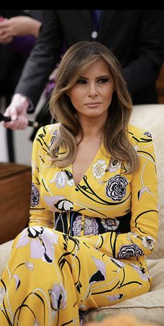 First Lady Melania Trump in Pucci