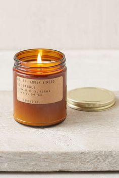 Slide View: 2: PF Candle Co. Amber Jar Soy Candle