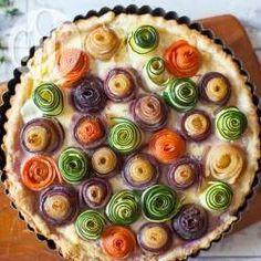 Torta de legumes com massa folhada @ allrecipes.com.br - Essa é uma torta salgada elegante, linda e muito fácil de fazer! Experimente!