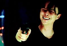 i'm pretty sure he was threatening somebody in this scene but his smile is just so. cute. - Literally my thoughts the entire movie.. <<<those comments made me giggle cos its true xx AND THENECK