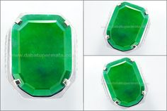 Super Big Face Jadeite Jade Grade A Burma + BIG - JD 035 + Sertifikat