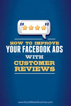 Do you use Facebook advertising?  Have you considered incorporating customer reviews into your ads?  Facebook ads that include customer reviews blend in with other news feed stories and are better received by people browsing Facebook.  In this article, learn how to improve your Facebook ads with customer reviews.