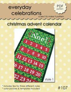 Christmas Advent Calendar | YouCanMakeThis.com