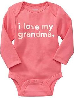 """""""I Love My ..."""" Graphic Bodysuits for Baby"""