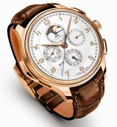 IWC - Portugieser Grande Complication, ref.IW377602 - Self-winding, cal.79091, 4Hz, 44hr p.r., perpetual calendar, moon phases, minute repeater - 45mm, 18ct red gold case, silver-plated dial ~150k