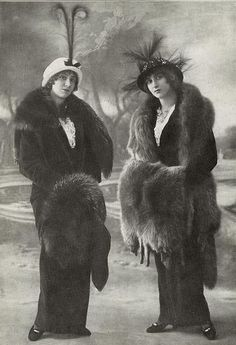 Edwardian ladies.....bad ass is not new.....you don't like our furs? Stand still and we'll skin you.....the limo needs new seatcovers.