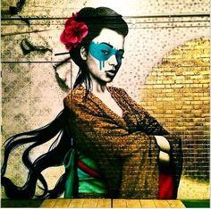 Graffiti/street art by Fin DAC, London, UK - September 2014