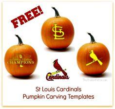 Free St Louis Cardinals Pumpkin Carving Templates