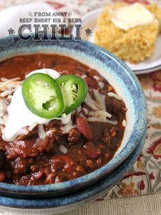 Beef Short Rib Chili with Beans