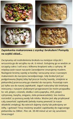 Zapiekanka makaronowa z szynką i brokułami - Pomysł na szybki obiad!!!