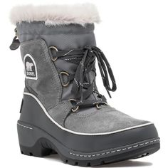 SOREL Tivoli Iii Snow Boot Cloud Grey Suede ($130) ❤ liked on Polyvore featuring shoes, boots, ankle booties, ankle boots, cloud grey suede, grey suede booties, waterproof snow boots, suede ankle boots, grey ankle booties and grey booties