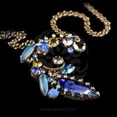 Konplott 'La Maitresse' Blue Flowering Pendant Necklace | Alexandra May Jewellery