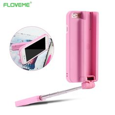 f07cb099c FLOVEME Bluetooth Selfie Stick Case For iPhone 6 6s Plus Handheld Camera  Self timer Lever Retractable Phone Cover For iPhone 6-in Phone Bags & Cases  from ...
