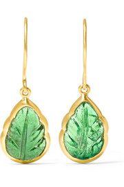 Pippa Small18-karat gold tourmaline earrings