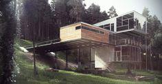 Architectural 3D Visualisation - Modern Cabin by Wonder Vision , via Behance