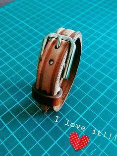 My first handmade leather wrist band.