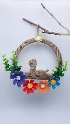 Diy Crafts For Home Decor, Diy Crafts For Gifts, Diy Arts And Crafts, Handmade Crafts, Diy Crafts Hacks, Paper Crafts For Kids, Cardboard Crafts, Paper Flowers Diy, Flower Crafts