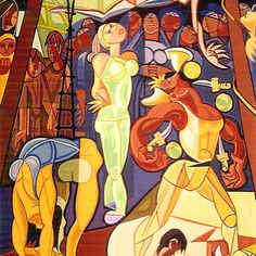 Tapeçarias. Pinturas de Almada Negreiros em Tapeçarias de Portalegre Henri De Toulouse Lautrec, Gustav Klimt, Paint Designs, Caricature, Disney Characters, Fictional Characters, Tapestry, Disney Princess, History