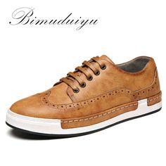 BIMUDUIYU Luxury Brand Four Seasons Wipe color PU leather Bullock Men Casual  Shoes British Fashion Retro 4d80b4773e93